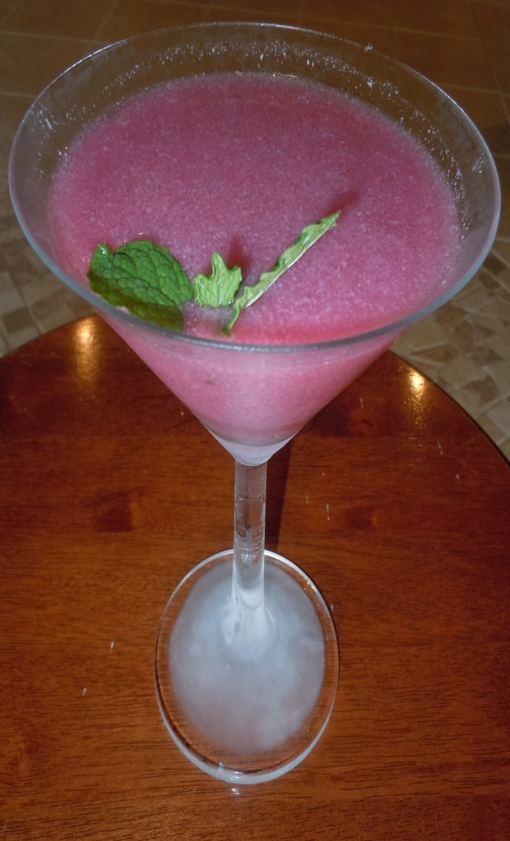 "Coconut/Pomegranate ""Martini"""