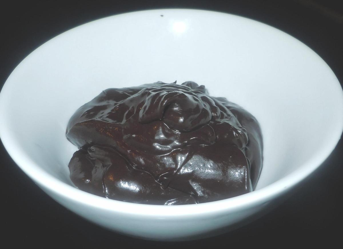 Alkaline chocolate pudding